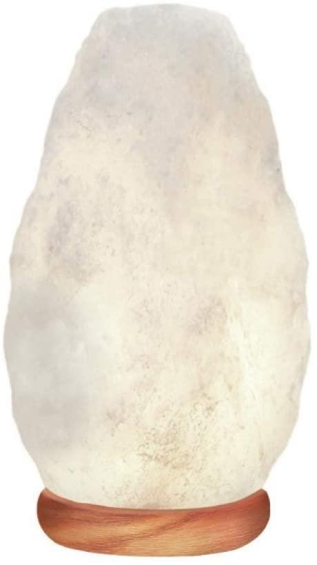lampara de sal del himalaya blanca